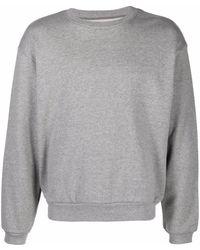 Kapital Langarmshirt mit Smiley-Print - Grau