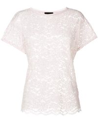Ermanno Scervino - Lace-embroidered Blouse - Lyst