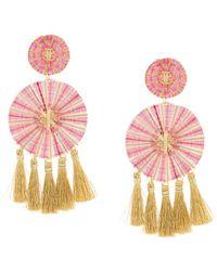 Mercedes Salazar Large tassel earrings - Metallizzato