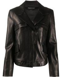 Tom Ford Куртка На Молнии - Черный