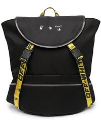 Off-White c/o Virgil Abloh Industrial Logo Print Backpack - Black