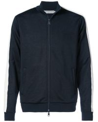 Vince - Zipped Sports Jacket With Stripe - Lyst