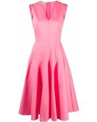 Blanca Vita Vネック ドレス - ピンク
