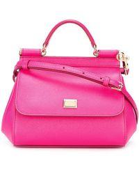 Dolce & Gabbana Bolso tote pequeño Sicily - Rosa