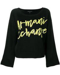Armani Exchange - Sequin Logo Jumper - Lyst