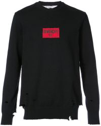 Givenchy - Distressed Sweatshirt - Lyst
