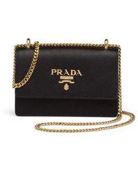 Prada Saffiano Leather Mini Bag - Black