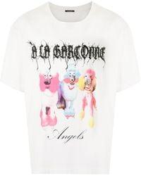 À La Garçonne Poodle Oversized T-shirt - White