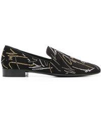 9fe61126db1591 Giuseppe Zanotti Kevin Swarovski Crystal Loafers in Black for Men - Lyst