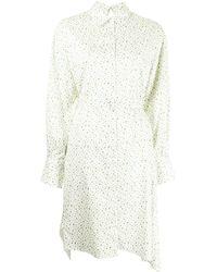 PORTSPURE ポルカドット シャツドレス - ホワイト