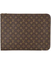 Louis Vuitton 2001 Pre-owned Poche Documents 38 Clutch - Brown