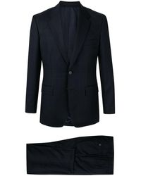 Gieves & Hawkes Check Pattern Suit - Blue