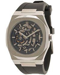 D1 Milano Horloge Met Skelet - Metallic