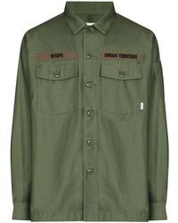 WTAPS Military-style Long-sleeve Shirt - Green