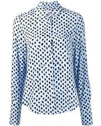 Essentiel Antwerp Shirt Met Stippen - Blauw