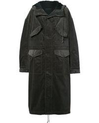 Haider Ackermann Oversized long hooded coat - Verde