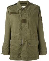 Saint Laurent Military Jacket W/back Shark Patch - Green
