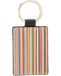 Paul Smith Signature Stripe Key Ring - Black