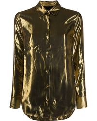 Equipment Metallic Burnel Satin Shirt