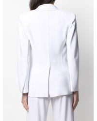 Norma Kamali スリムフィット シングルジャケット - ホワイト