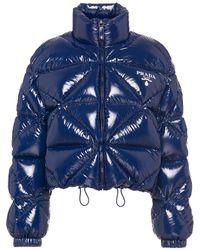 Prada パデッドジャケット - ブルー