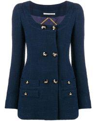 e4b42b4ecc8a Alessandra Rich - Double Breasted Blazer Dress - Lyst