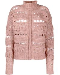 Isabel Marant Funnel-neck Knitted Sweater - Multicolor
