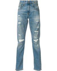 R13 Jasper Mid Rise Jeans - Blue