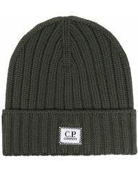 C.P. Company ロゴパッチ ビーニー - グリーン