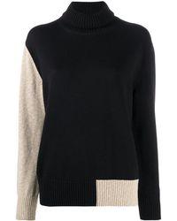 MM6 by Maison Martin Margiela カラーブロック セーター - ブラック