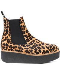 Flamingos Pooky Leopard Boots - Brown