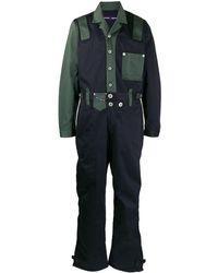 DIESEL カラーブロック ジャンプスーツ - グリーン
