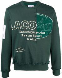 Lacoste ロゴパネル スウェットシャツ - グリーン