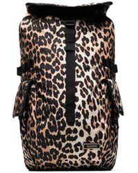 Ganni Leopard-print Backpack - Black
