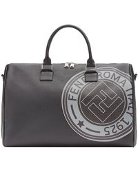 7a34e39afb01 Lyst - Fendi Ff Vetrificato Print Duffle Bag in Brown for Men