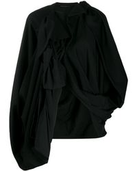 Yohji Yamamoto オーバーサイズ ウールジャケット - ブラック