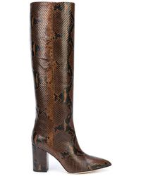 Paris Texas - Python Print High Heel Boot - Lyst