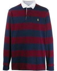 Ralph Lauren ストライプ ポロシャツ - ブルー