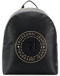 Trussardi Stud Logo Backpack - Black