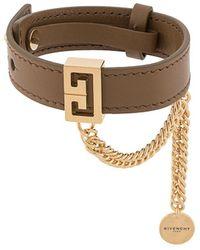 Givenchy ロゴ ブレスレット - ブラウン