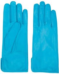 MSGM Leather Driving Gloves - Blue