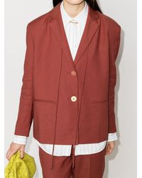 Rejina Pyo Blazer con botones - Rojo