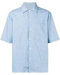 AMI キャンプカラー シャツ - ブルー