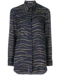 Ferragamo - Animal Print Shirt - Lyst