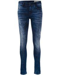 DIESEL Jeans Met Vervaagd Effect - Blauw