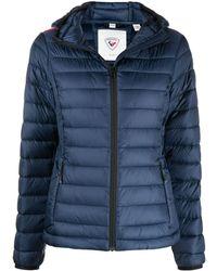 Rossignol Lightweight Hooded Puffer Jacket - Blue