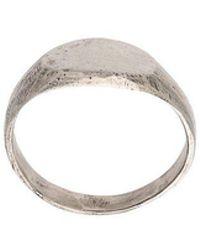 Henson Oval Signet Ring Set - Metallic