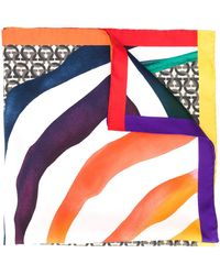 Ferragamo Foulard à imprimés multiples - Multicolore