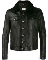 Saint Laurent Куртка С Овчиной - Черный