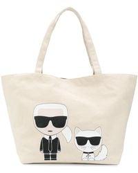 Karl Lagerfeld - K/ikonik Karl & Choupette ハンドバッグ - Lyst